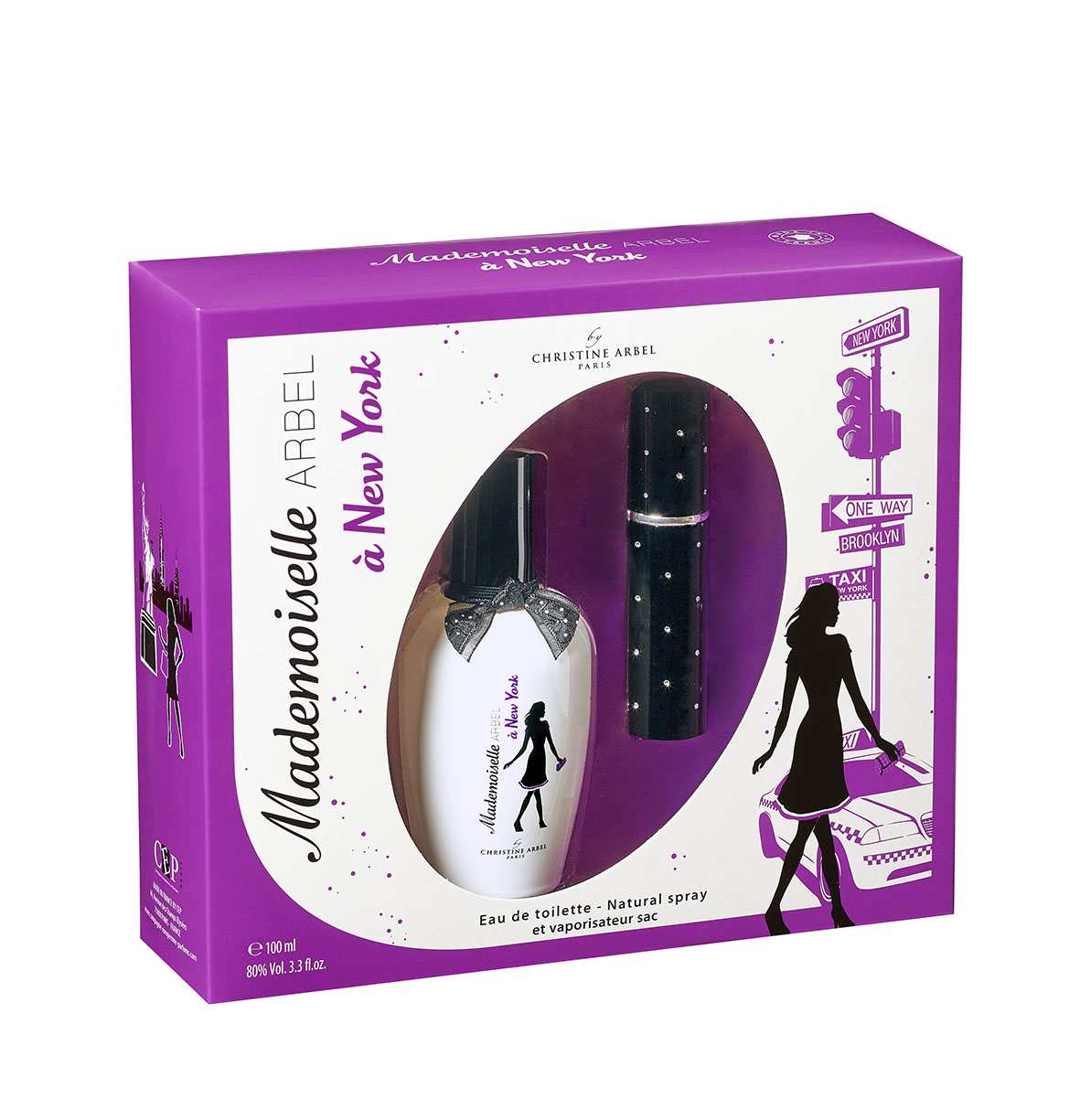 Coffret cadeau parfum femme Mademoiselle Arbel à New York